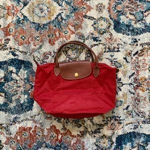 Red Longchamp Tote